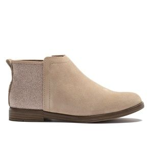 NWB Toms suede glimmer contrast bootie